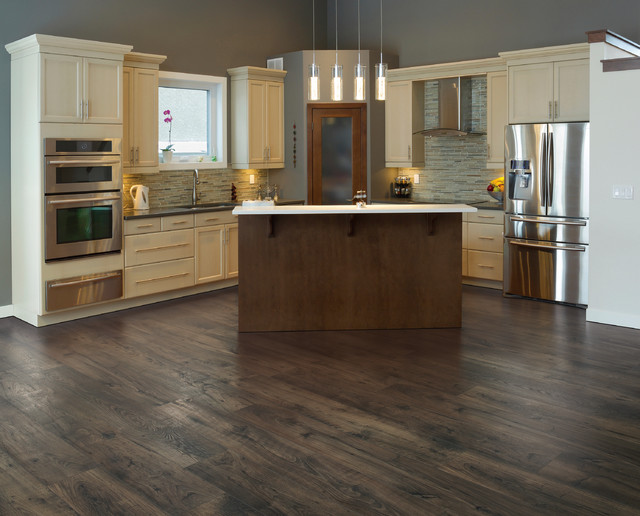 Durable Wood Look Laminate Floors Modern Kitchen Philadelphia