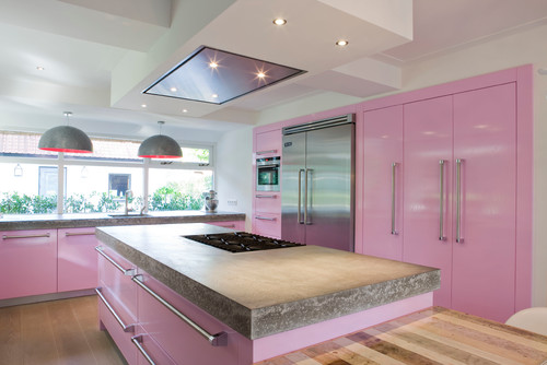 The Granite Gurus 6 Pink, Yes Pink, Kitchens