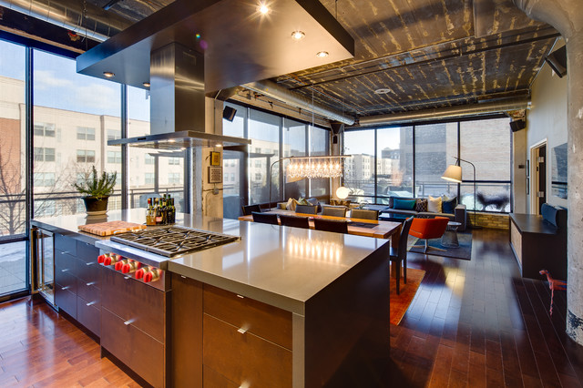Dwelling Designs Warehouse District Loft Industrial