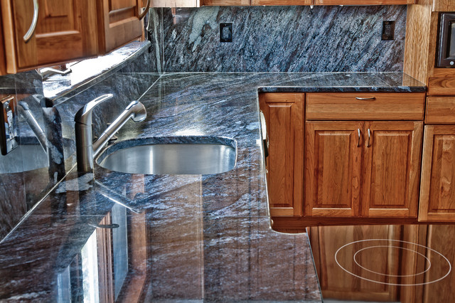 Dynamic Blue Granite Kitchen - Traditional - Kitchen - DC Metro ...