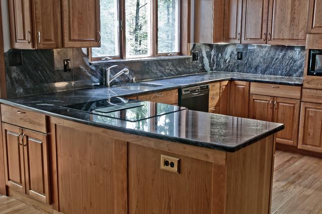 Dynamic Blue Granite Kitchen Traditional Kitchen Dc