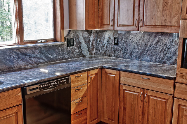 Dynamic Blue Granite Kitchen Traditional Kitchen Dc