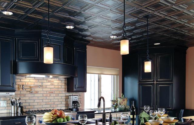 Dynamic Tin Ceiling Kitchen Traditional Kitchen