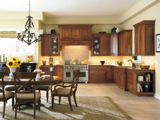 dynasty by omega portage beaded inset cherry nutmeg with onyx glaze traditional kitchen