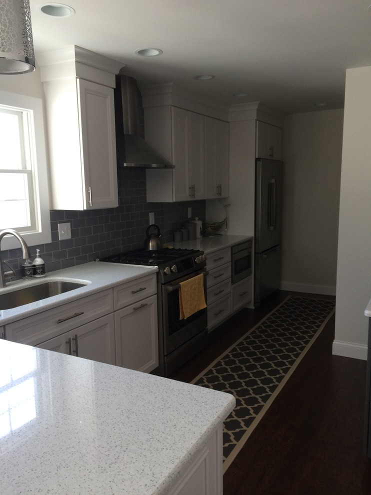 Dynasty Cabinets Battleship Grey and Pearl - Contemporary ...