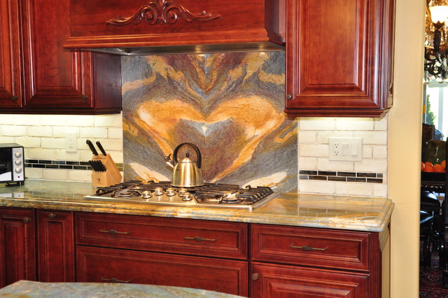 Dynasty Cherry Wood Sable Onyx traditional-kitchen