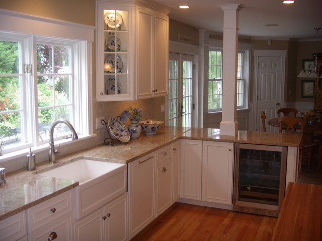 Dynasty Provincial Painted Kitchen Beverly traditional kitchen