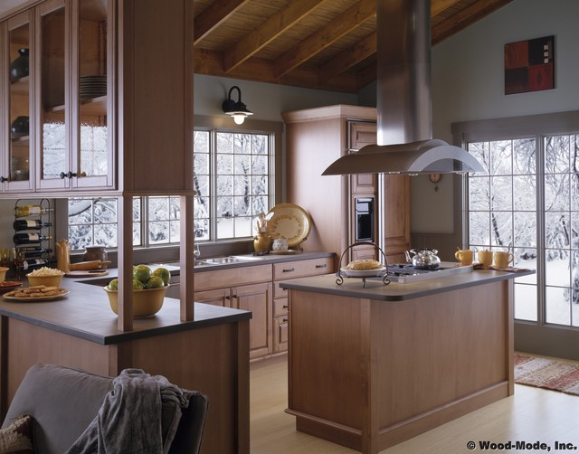 E Wood Mode 66 Traditional Kitchen Chicago By Karlson Kitchens