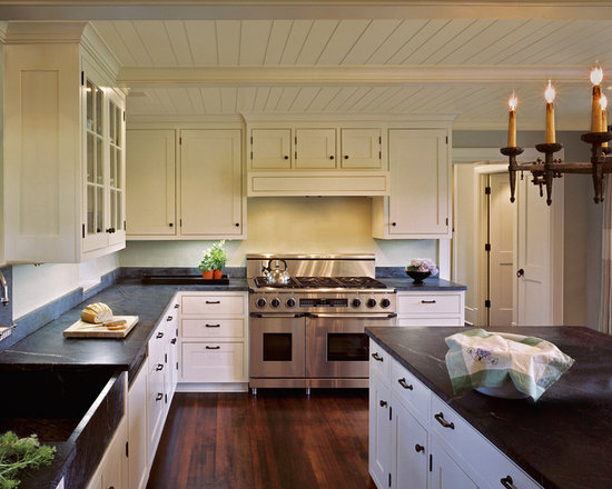 White Cabinets Black Countertop Home Design Ideas, Pictures, Remodel