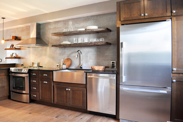 Earthy Kitchen Condo Renovation Eclectic Kitchen