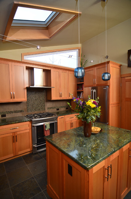 Earthy kitchen remodel contemporary kitchen other for Earthy kitchen designs