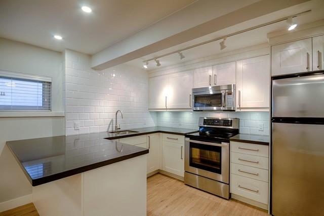 East 15th Street Basement Suite Modern Kitchen