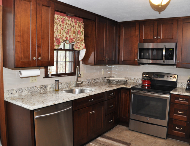 East bridgewater raised ranch renovation transitional for Raised ranch kitchen designs
