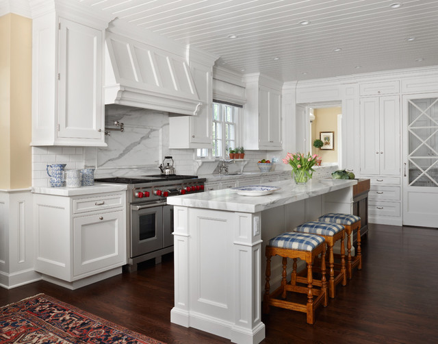 East Coast White Traditional Kitchen Denver By