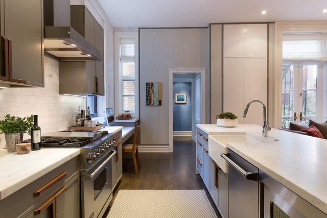 East village brownstone contemporary kitchen new for Brownstone kitchen ideas