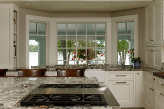 Bay Window Overlooking The Water Traditional Kitchen