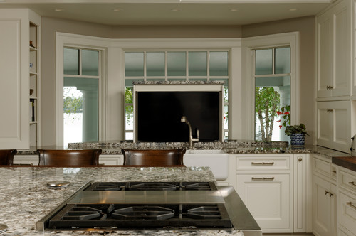 Easton, Maryland Traditional Kitchen Design Surrounded By Water