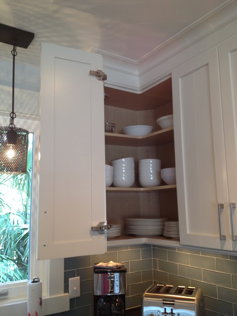 Easy-Reach Corner Wall Cabinet - Beach Style - Kitchen - other metro - by Center Point Cabinets