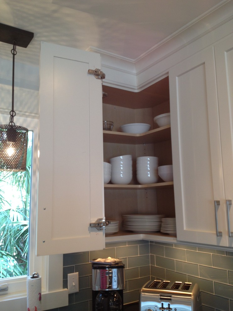 Easy Reach Corner Wall Cabinet Beach Style Kitchen Atlanta By Center Point Cabinets