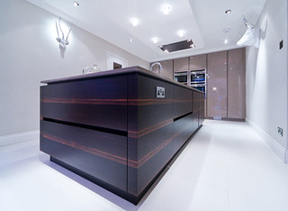 ebony macassar kitchen in the channel islands