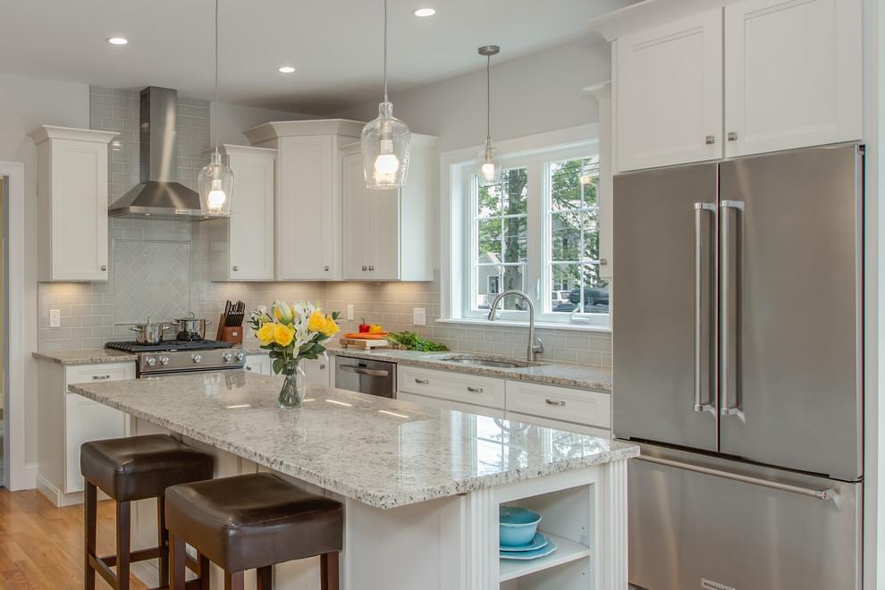 Echelon Linen Kitchen With Custom Features - Transitional ...