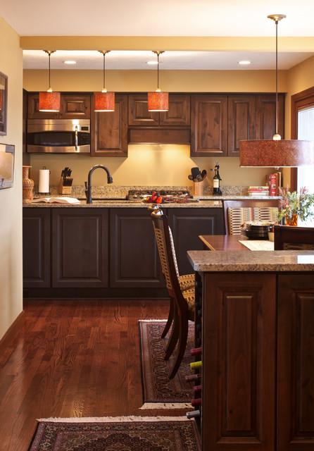Eclectic Bachelor Pad traditional-kitchen