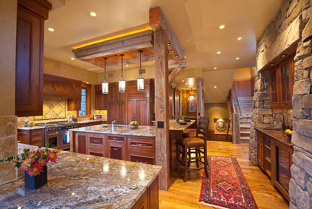 Montana mix eclectic kitchen