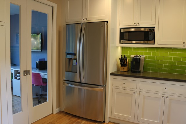 Eclectic Kitchen Featuring Face Frame Cabinets With Inset Shaker