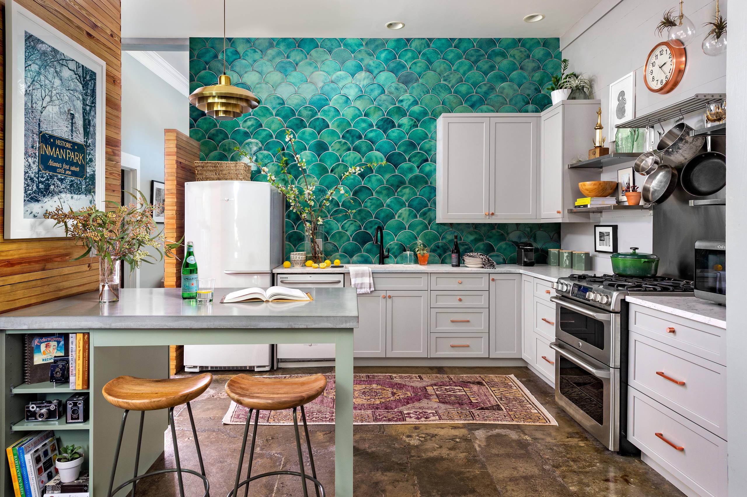 - Teal Tile Backsplash Kitchen Ideas & Photos Houzz