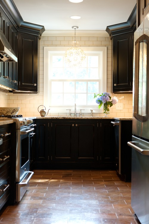 Adding wood trim to kitchen cabinets for Adding crown molding to kitchen cabinets before after