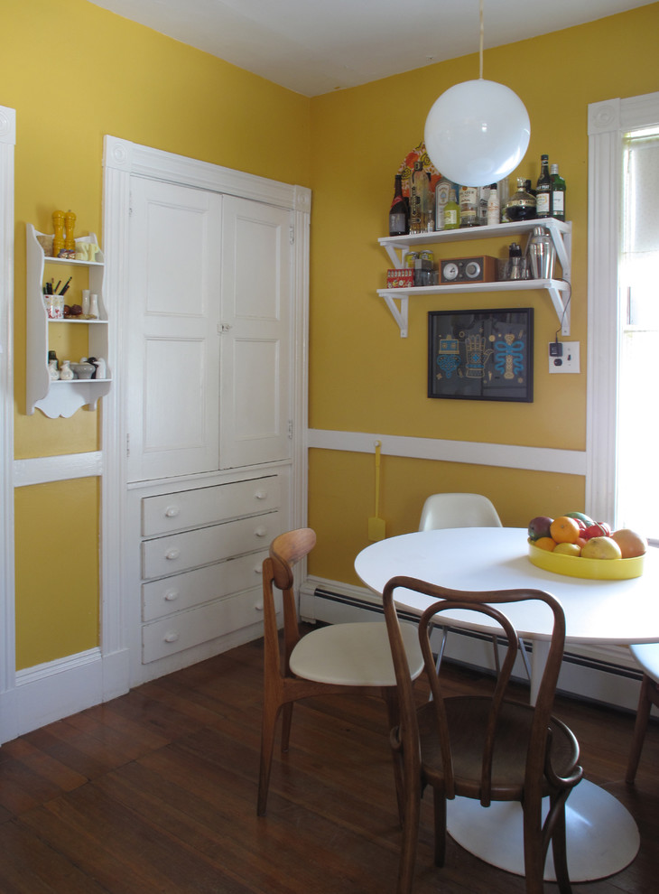 Inspiration for an eclectic eat-in kitchen remodel in Boston