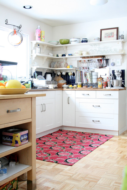eclectic kitchen by Tamar Schechner