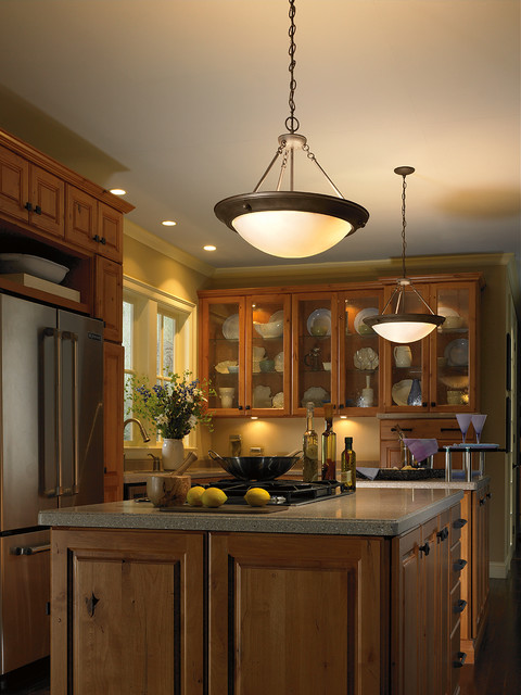 Eclipse pendant in kitchen traditional kitchen other metro by progress lighting - Traditional pendant lighting for kitchen ...