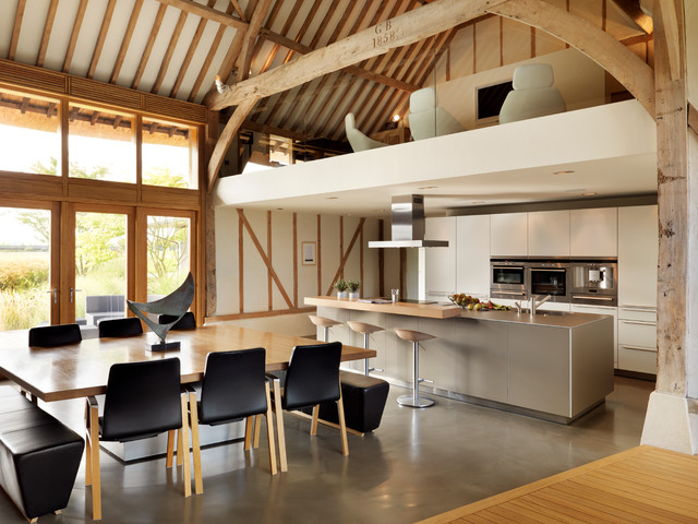 Gentil Eco Barn Conversion Contemporary Kitchen