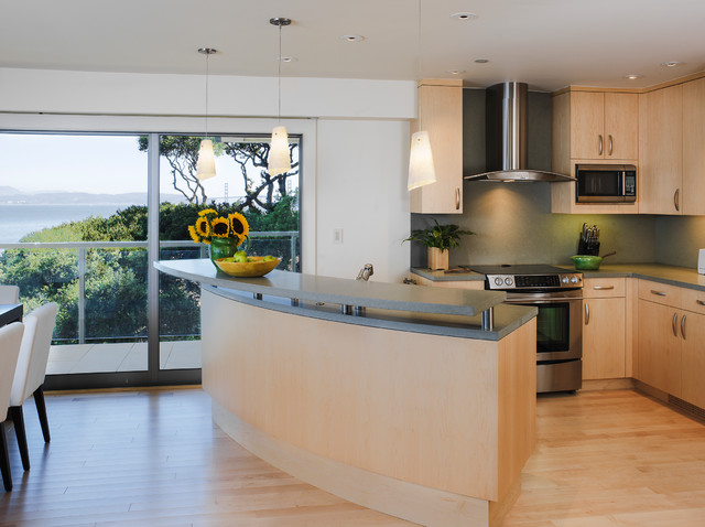 Eco-friendly Modern in Tiburon modern-kitchen