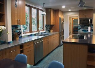 ECOblue kitchen eclectic kitchen