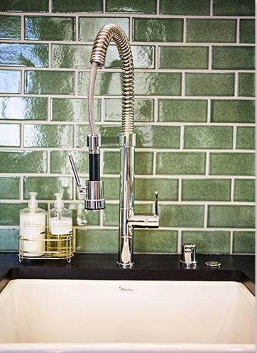 Ecohistorical Homes Kitchen Backsplash / Fireclay Tile Debris Series contemporary-kitchen
