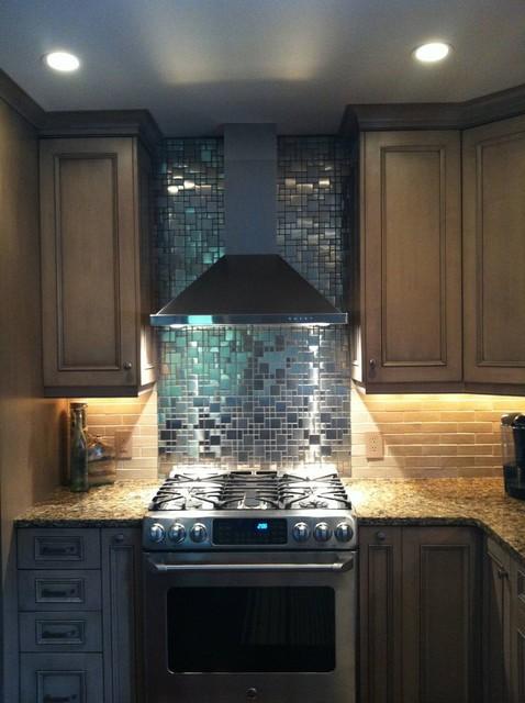 Eden Mosaic Tile Modern Cobble Pattern Stainless Steel