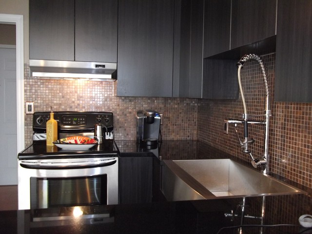 Eden Mosaic Tile Installations Medium Square Antique Copper Tilecontemporary Kitchen Miami