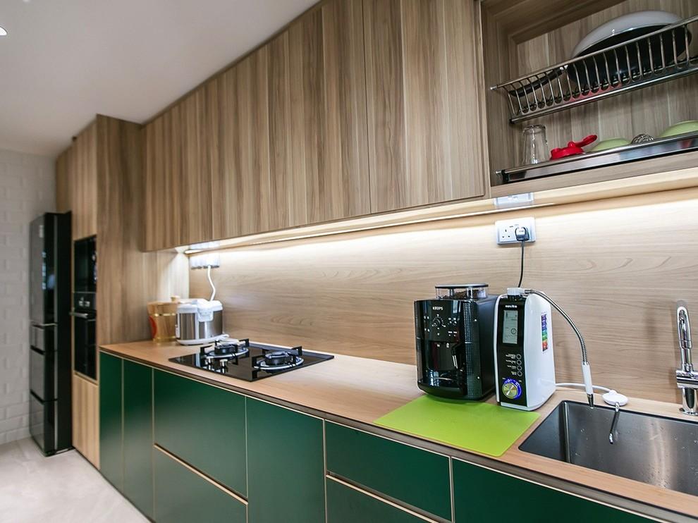 Edgedale Plains 4 Room Hdb Asian Kitchen Singapore By Kwym Interior Designs Pte Ltd
