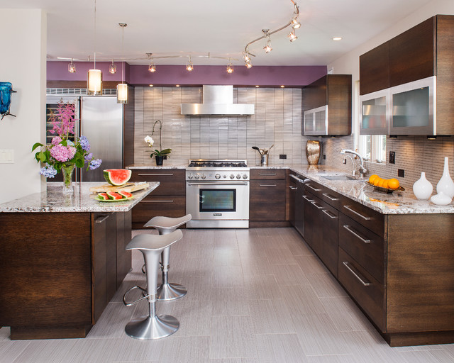 Edgy contemporary kitchen contemporary kitchen new for New york style kitchen design