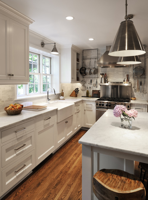 Wall Sconce Above Kitchen Sink : Is the sconce over the sink the Visual Comfort Boston Functional Single Arm?