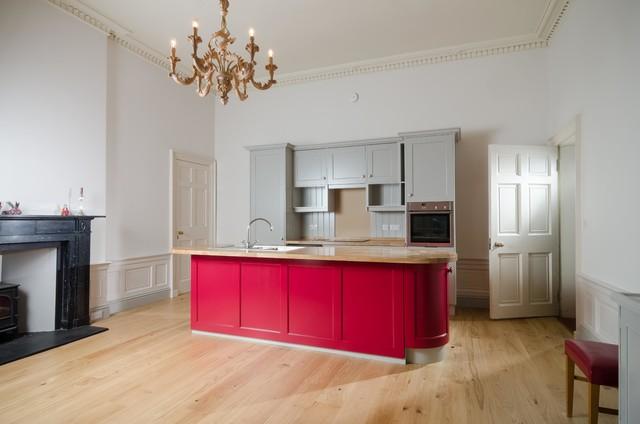 Edinburgh New Town Bespoke Kitchen Island Project - Traditional ...