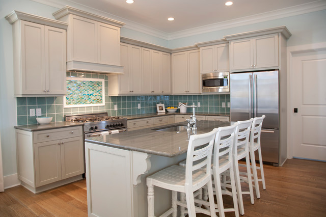 Edisto beach house beach style kitchen charleston for Beach inspired kitchen designs