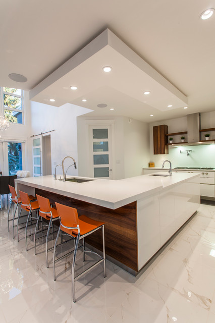 Edmonton Modern Custom Infill Modern Kitchen Edmonton By Homes By Managen