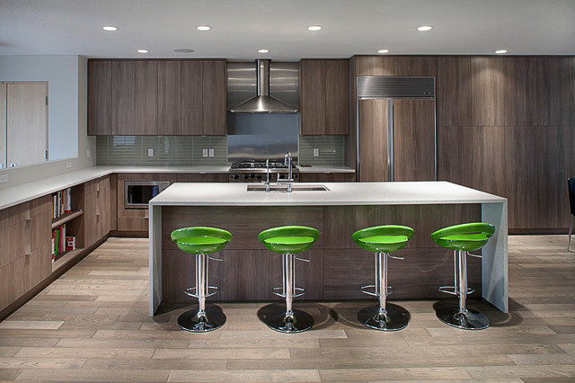 Edmonton Residence Contemporary Kitchen Vancouver By Robert Stefanowi