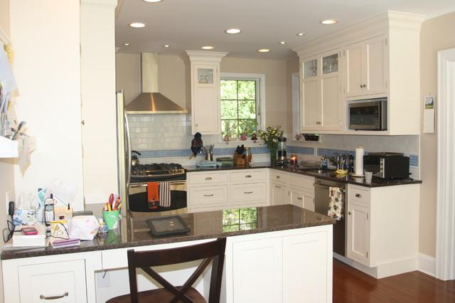 Efficient Small White Kitchen
