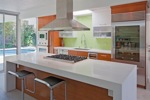 Eichler Remodel Bamboo Kitchen Contemporary Kitchen