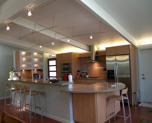 Eichler Renovation Eclectic Kitchen San Francisco