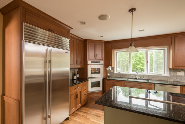 Elegant Casual Custom Cabinets In Ct Craftsman Kitchen New York By Ackley Cabinet Llc